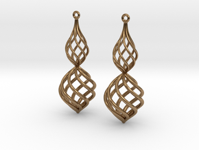 Posh Big Earrings 50mm in Natural Brass