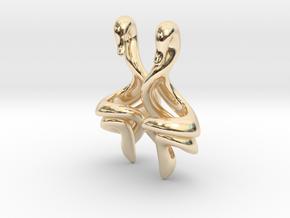 Swan Earrings (select a size) in 14K Yellow Gold