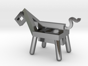 dog in Polished Silver