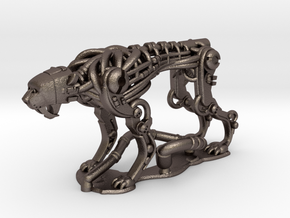 Robotic Cheetah: 1 piece in Polished Bronzed Silver Steel