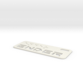 Ender Dogtag Large in White Natural Versatile Plastic