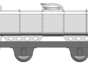 Deutsche Heeresfeldbahn tankwagon H0e in Smooth Fine Detail Plastic