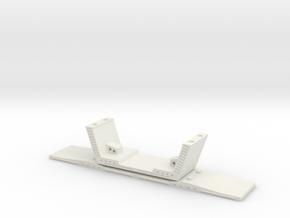 HO/1:87 Precast concrete bridge segment (wide/no r in White Natural Versatile Plastic