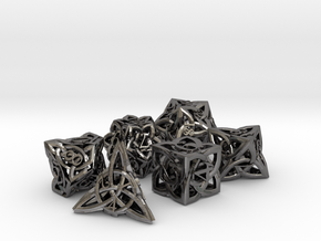Celtic Dice Set in Polished Nickel Steel