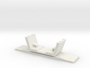 HO/1:87 Precast concrete bridge segment (small/no  in White Strong & Flexible