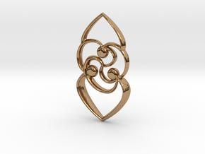 Celtic rose in Polished Brass