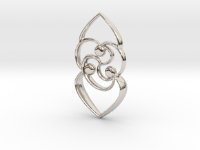 Celtic rose in Platinum