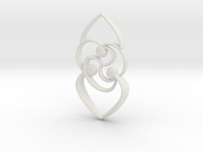 Celtic rose in White Natural Versatile Plastic