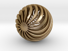 Ball in Polished Gold Steel