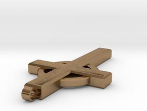 Cross in Natural Brass