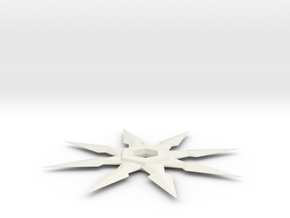 Shuriken in White Natural Versatile Plastic