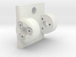 MURASE Head Assembly in White Natural Versatile Plastic