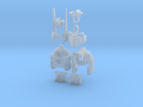 MP-10 HEAD LONG ANTENNAS in Smooth Fine Detail Plastic