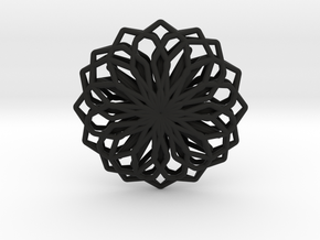 A-LINE Lotus, Pendant in Black Natural Versatile Plastic