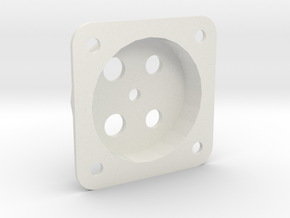 Fascia Mount for Tam Valley Servo Controls in White Natural Versatile Plastic