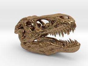 Tyrannosaurus Rex pendant 50mm in Natural Brass