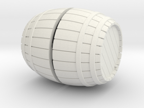 1/72nd (20 mm) scale wooden barrel in White Strong & Flexible