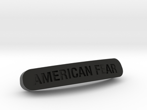 AMERICAN FEAR Nameplate for SteelSeries Rival in Black Strong & Flexible