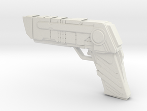 Futuristic handgun Concept in White Strong & Flexible