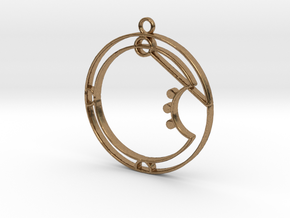 Aria - Necklace in Natural Brass