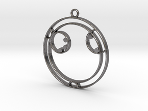 Ayla - Necklace in Polished Nickel Steel