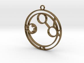 Amanda - Necklace in Raw Bronze