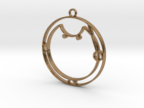 Aisha - Necklace in Natural Brass