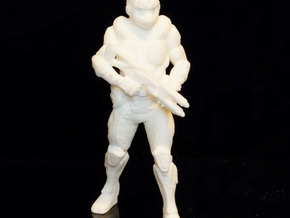 Future Soldier - 80mm Tall in White Strong & Flexible