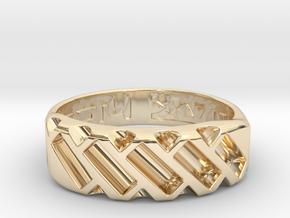 US14 Ring XVII: Tritium in 14K Yellow Gold