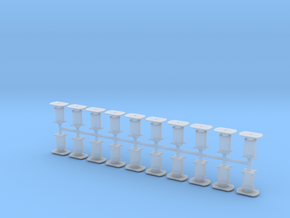 20 Buffers Reeks 84 NMBS / SNCB in Smooth Fine Detail Plastic
