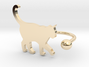 [Ring]Kitty play with a Ball (size 8) in 14K Yellow Gold