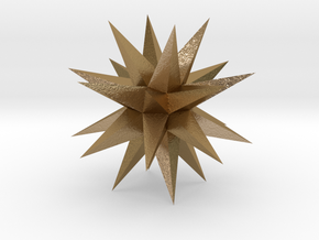 24 Pointed Stel Strombic Icositetra1 in Polished Gold Steel