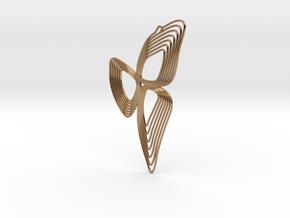 3POD earrings in Polished Brass