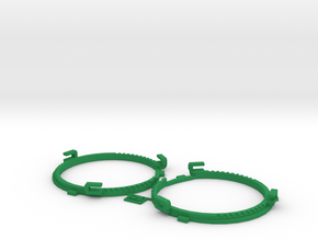 60.5mm  Lens Separators | Oculus Rift DK2 in Green Processed Versatile Plastic