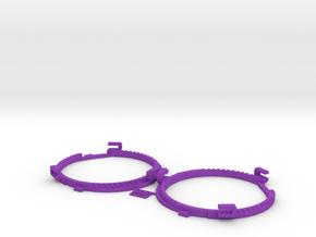 68.5mm Lens Separators | Oculus Rift DK2 in Purple Processed Versatile Plastic