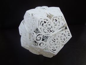 Butterfly Dodecahedron 01 in White Strong & Flexible