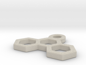 Pendant Three Hexagons in Natural Sandstone