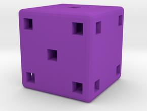 Dice1 in Purple Processed Versatile Plastic