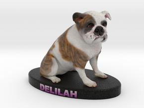 Custom Dog Figurine - Delilah in Full Color Sandstone