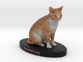 Custom Cat Figurine - Patton in Full Color Sandstone