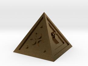 Legend of Zelda Pyramid Display Piece in Natural Bronze