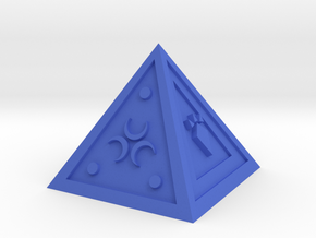 Legend of Zelda Pyramid Display Piece in Blue Processed Versatile Plastic
