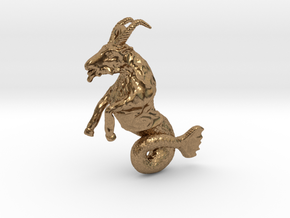 Capricorn Pendant - 2.6cm in Natural Brass