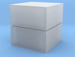 Cubic 1x1x2 3cm  in Smooth Fine Detail Plastic