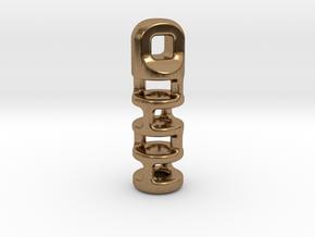 Tritium Lantern 3A (2x12mm Vial) in Natural Brass