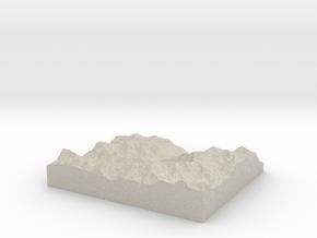 Model of Stechelberg in Natural Sandstone