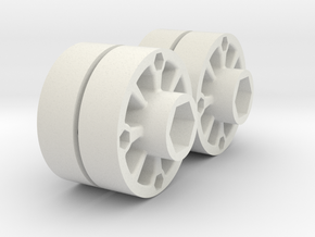 SK Wheel4 in White Natural Versatile Plastic