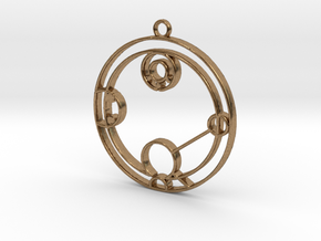 Hailey - Necklace in Natural Brass