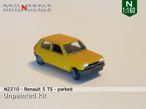 Renault 5 TS - Parked (N 1:160) in Smooth Fine Detail Plastic