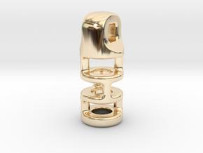 Tritium Lantern 3B (2.5x10mm Vial) in 14K Yellow Gold